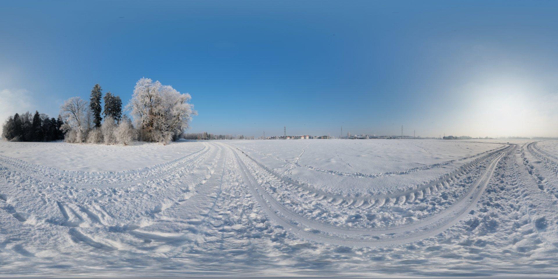 Hdri 360 176 Snowfield Morning Openfootage