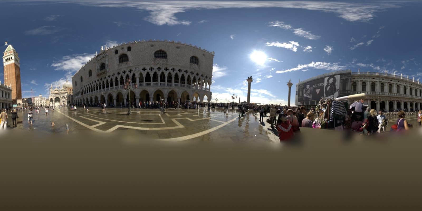 HDRI 360° Piazza San Marco Venice   Openfootage