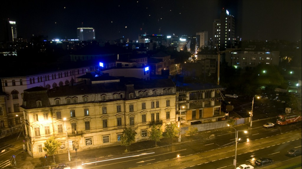 timelapse bucharest at night
