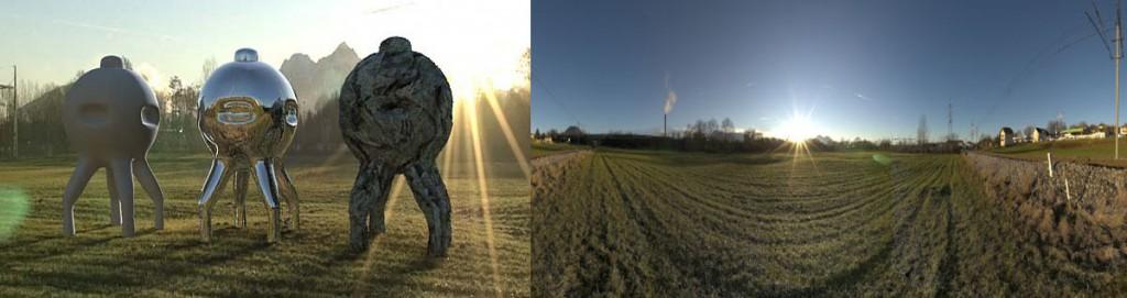 HDRI 360° panorama sunset