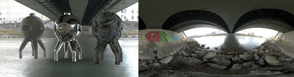HDRI 360 degree underbridge