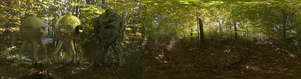 HDRI 360 forrest in autumn