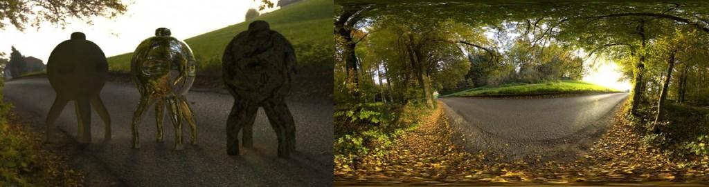 HDRI 360° Street autumn