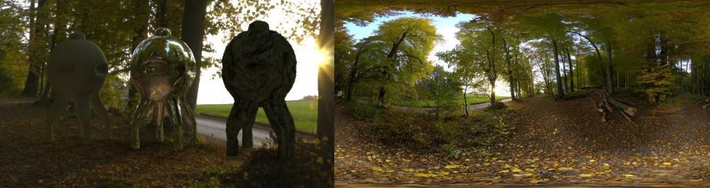 HDRI 360° forrest autumn