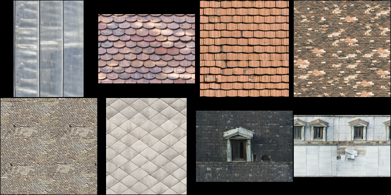 roof material textures