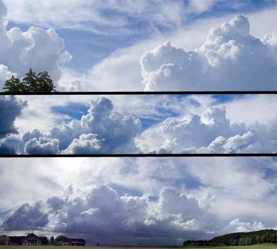 panorama photography clouds