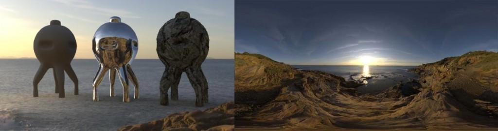 HDRI 360° ocean italy-Livornese