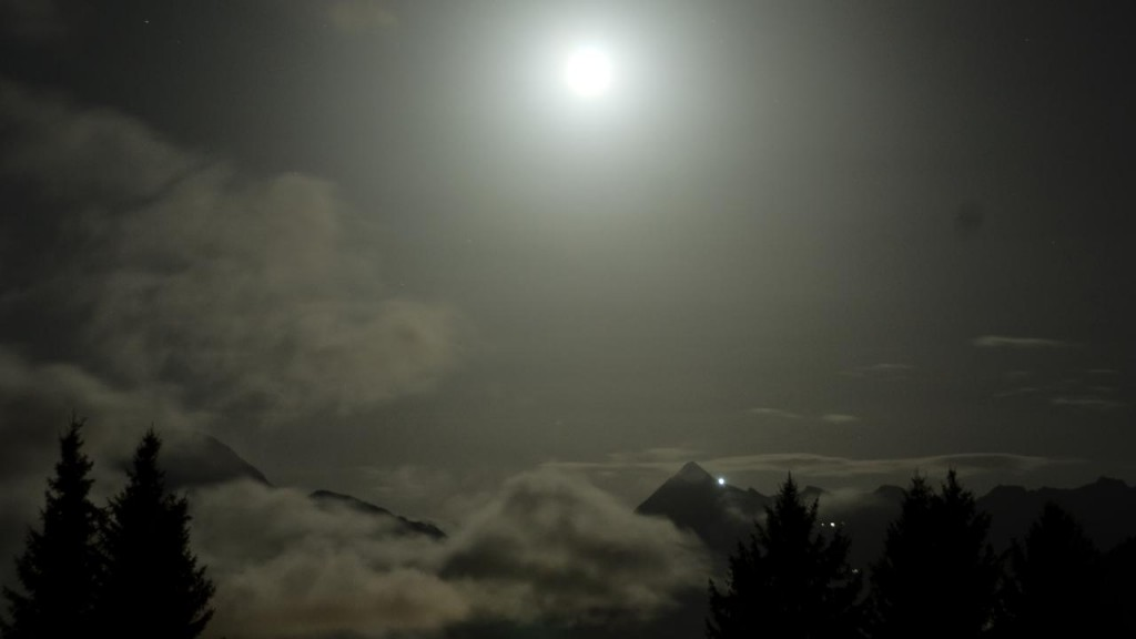 Timelapse night at the alps