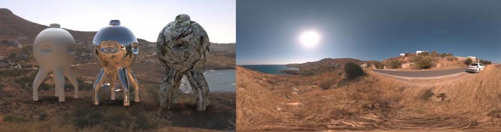 HDRI 360° Coast syros, Greece