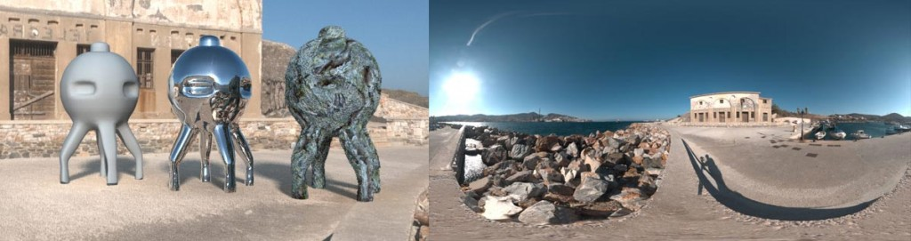 HDRI 360° Port Syros, Greece