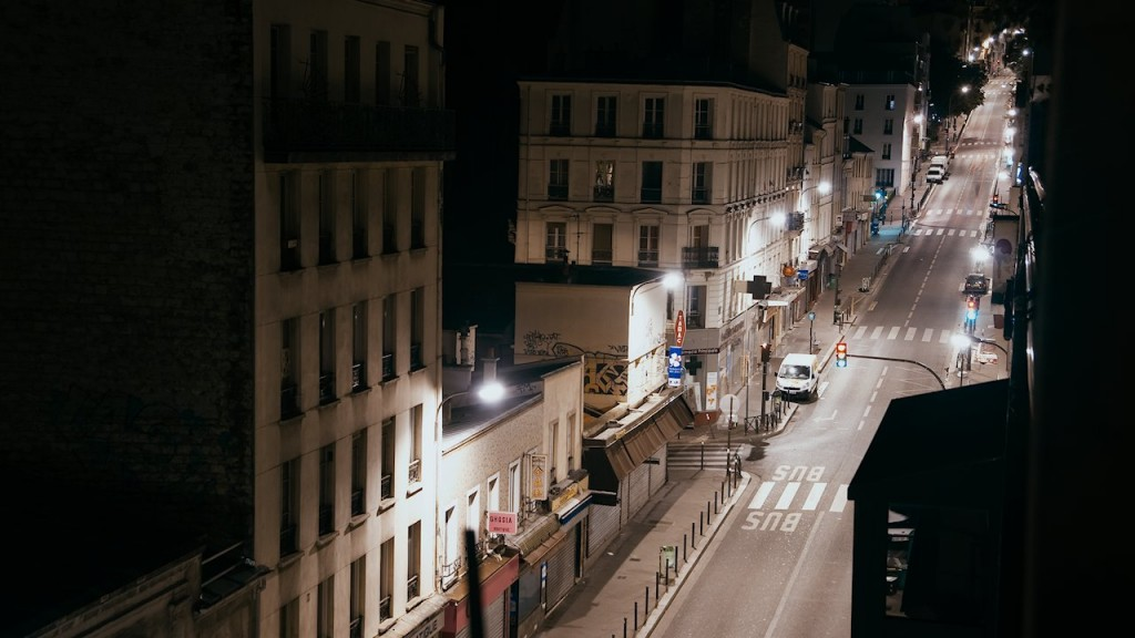 Paris Timelapse streets at night