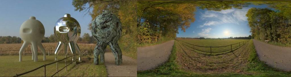 HDRI 360° Autumn field 02, Bavaria