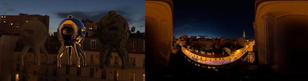 HDRI 360° Night in Paris, France