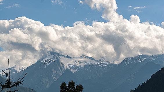 Timelapse clouds at Kitzsteinhorn