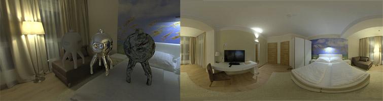 HDRI 360° hotel room - indoor