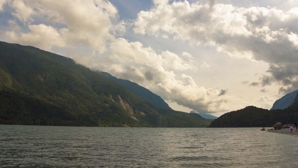 Timelapse lake molveno, trento italy