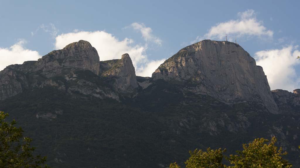 Timelapse mountains, trento italy