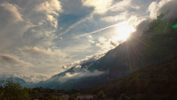 Timelapse clouds mountains at laghi di lamar, italy