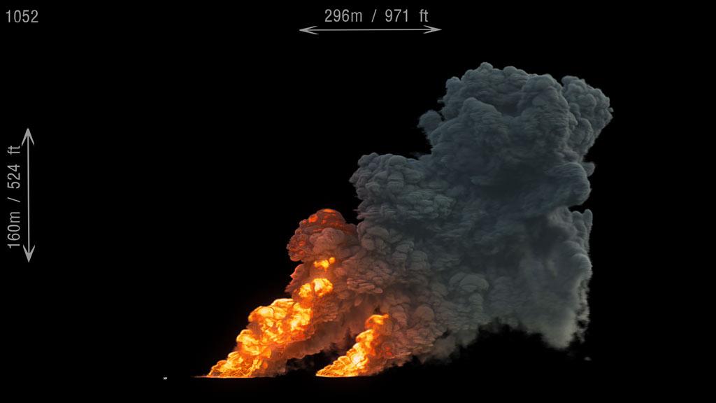 large scale smoke