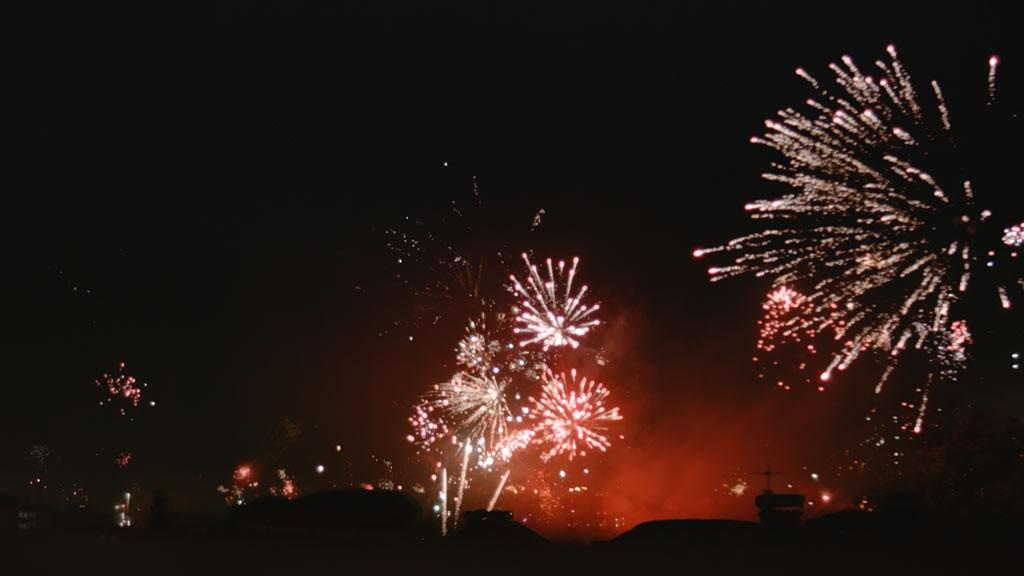 Firework New Year Salzburg 2015