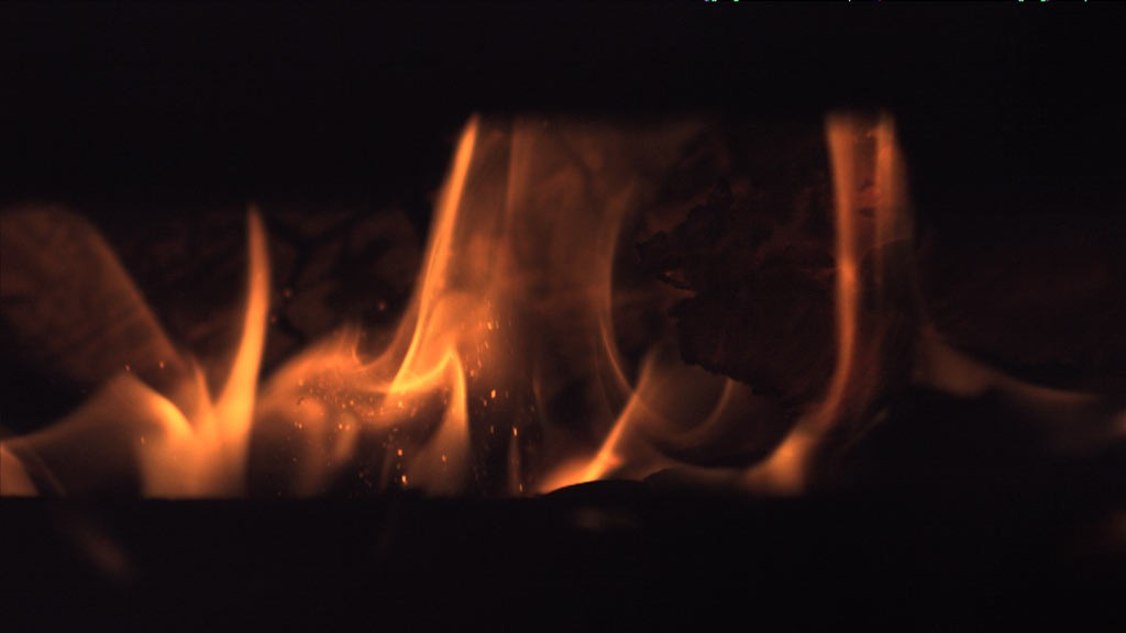 fire with wood 2 slowmotion
