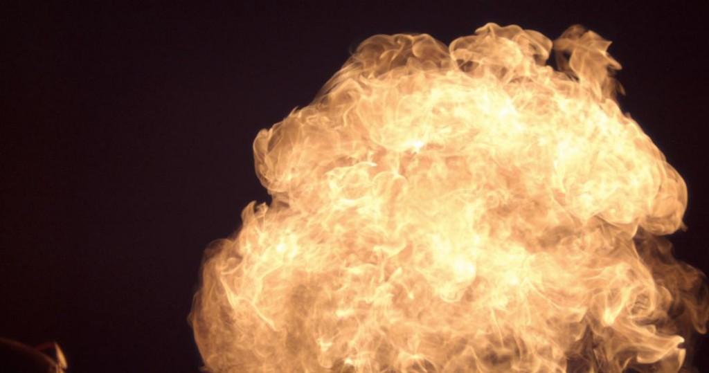Slowmotion fireball