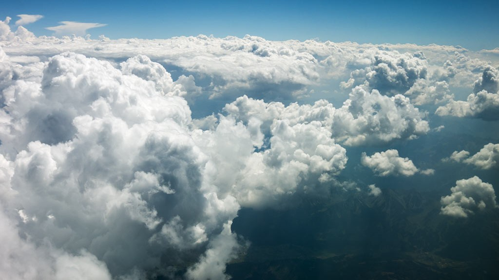Aerial footage clouds I
