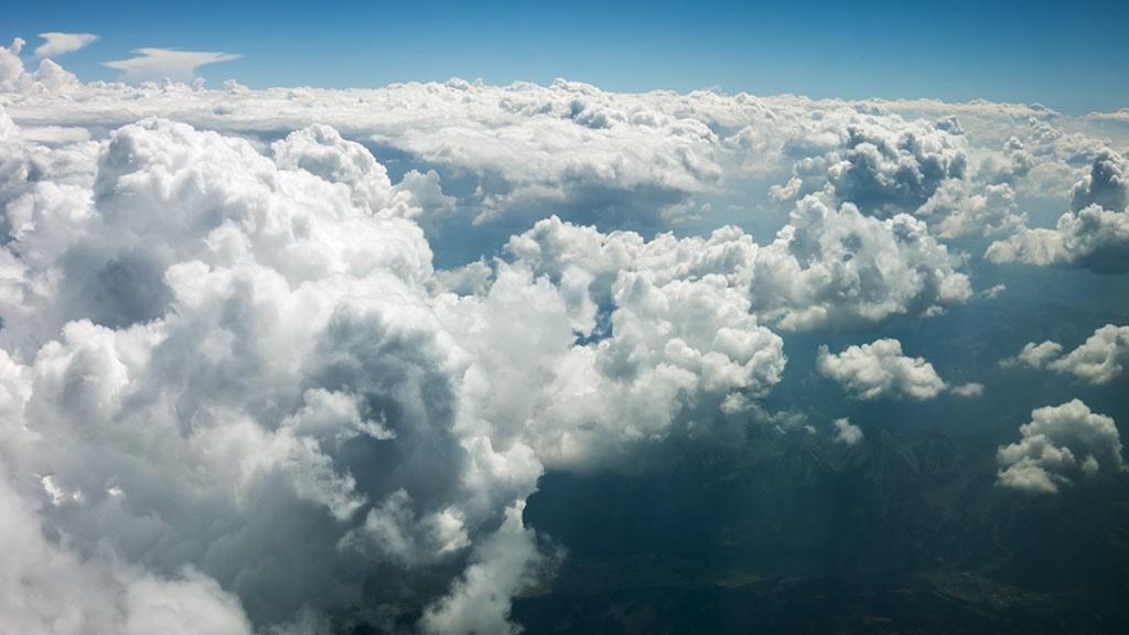 Aerial footage clouds I