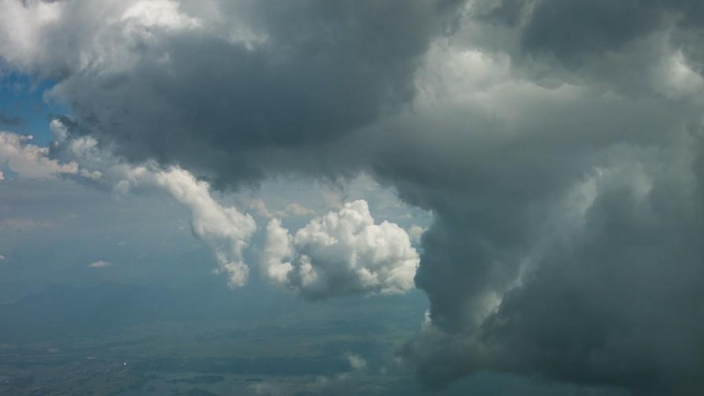 Aerial footage clouds III