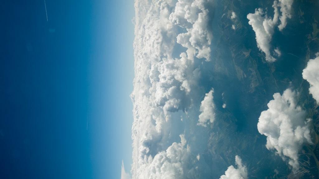 Aerial footage clouds II