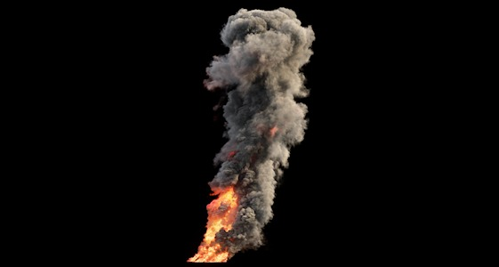 Smoke Plume with alpha and layers VFX element