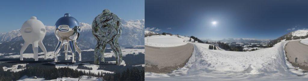 HDRI / 360° Winter wonderland alps