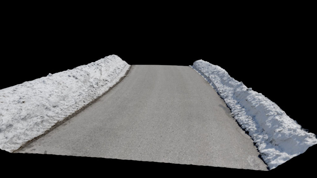 Asset regular street with snowy sides