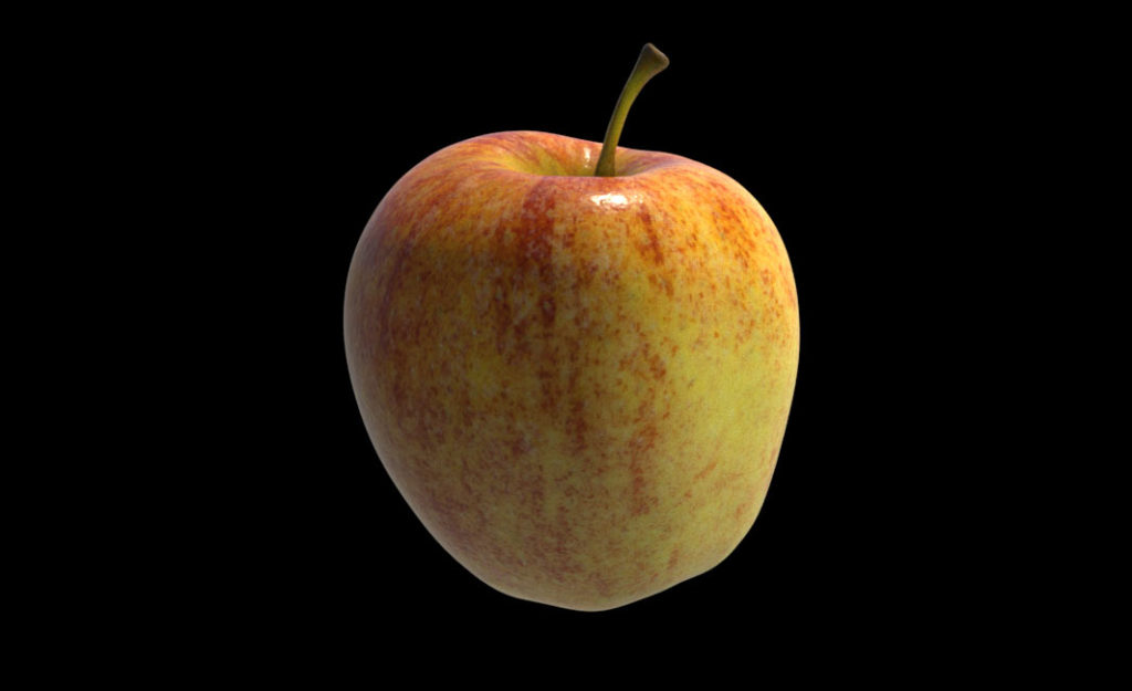 Just a (really nice textured) model of an apple