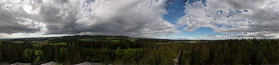 "Panorama upper Austria large Panorama view over the ""Sauwald"""