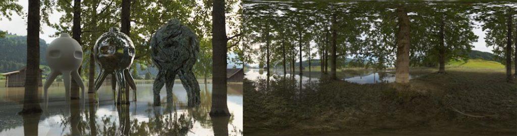 HDRI / 360° flooded area in Mittersill Pinzgau