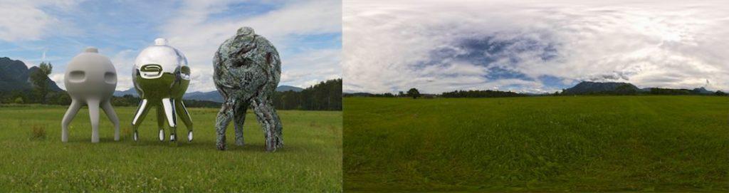 HDRI / 360° field summer Untersberg
